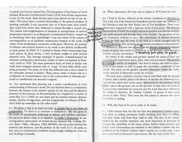 Richard Serra Interview by Teja Bach, page 28